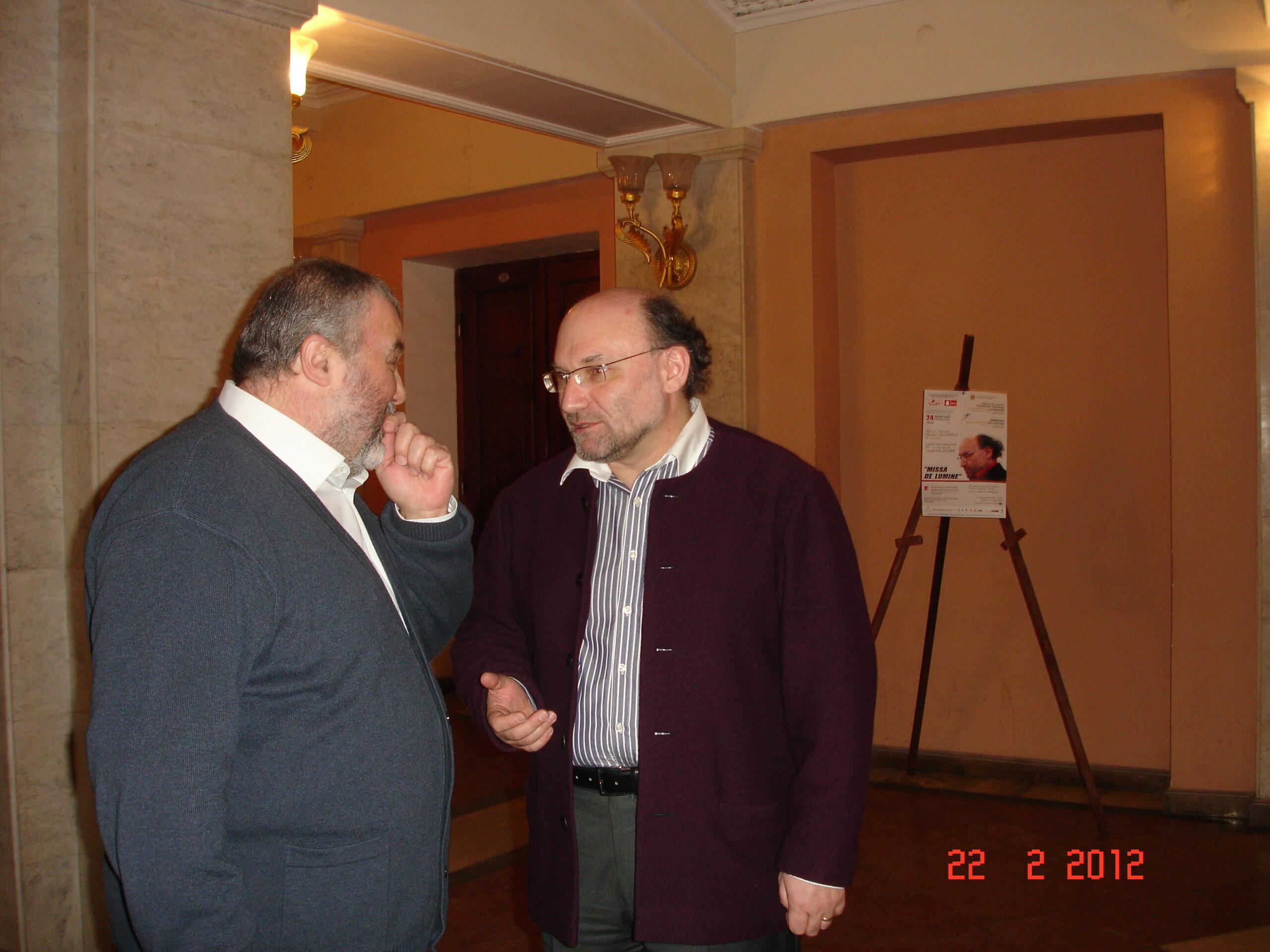 With Robert Mlkeyan